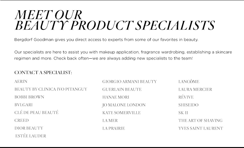 Beauty Product Specialists