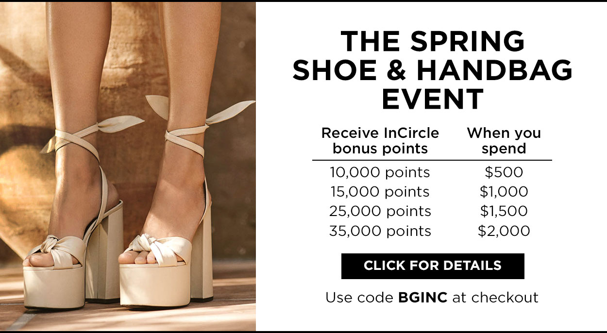 Spring Shoe and Handbag Event