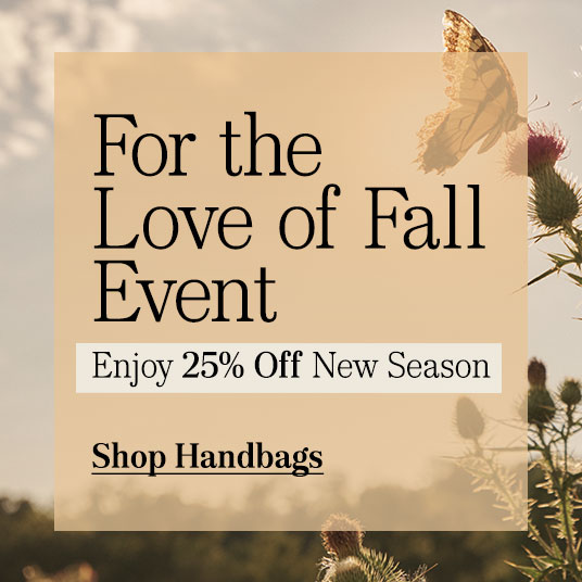 25% Off New Season - Handbags