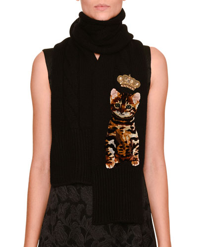 Kitten & Crown Cashmere Scarf, Black