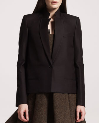Givenchy One-button Wool-silk Jacket