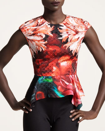 Peter Pilotto Floral-print Peplum Top