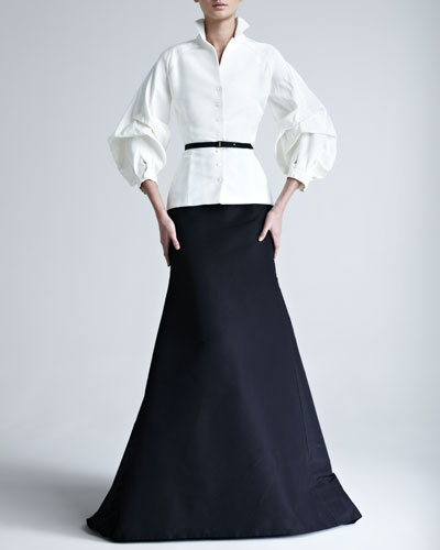 Silk Faille Gown Skirt