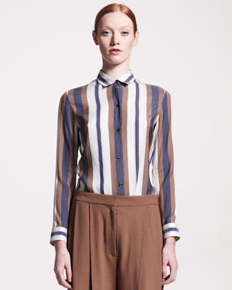 The Row Jacquard-stripe Blouse