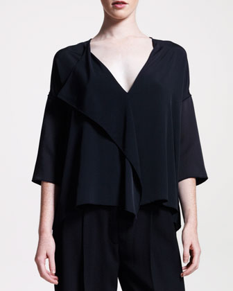 The Row Fluid Draped-front Blouse