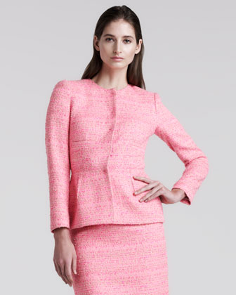 Giambattista Valli Tweed Peplum Jacket