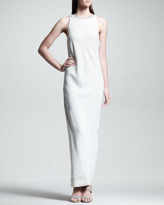Brunello Cucinelli Bias-cut Crepe Gown