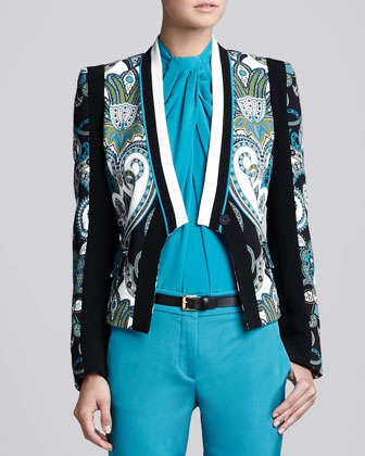 Etro Printed Lapel-free Jacket