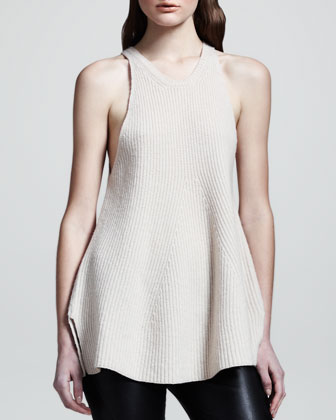 The Row Ribbed Merino-cashmere Top