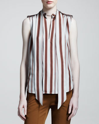 Belstaff Harlow Striped Silk Blouse