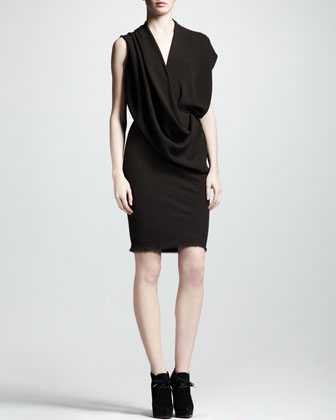 Draped Crepe Dress