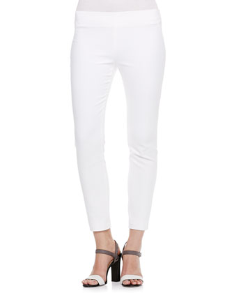 Techno Slim-Fit Pants, White