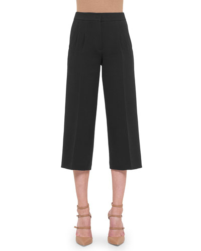 Double-Faced Pleated Culottes