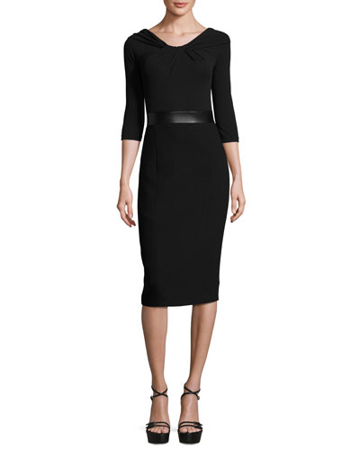 Twisted Off-the-Shoulder Sheath Dress