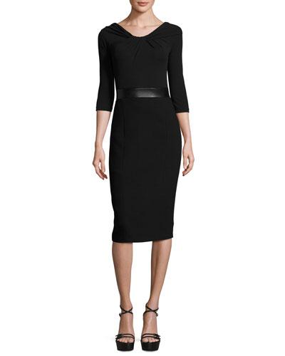 Twisted Off-the-Shoulder Sheath Dress