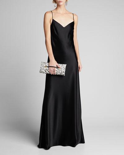 Alcazar Satin Crepe Gown, Black