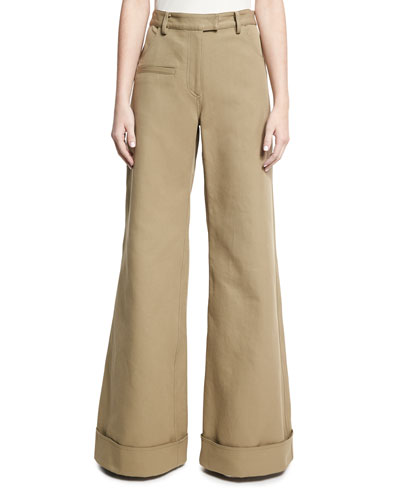 Wide-Leg Boy Pants, Tan