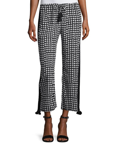 Cova Polka Dot Silk Pants