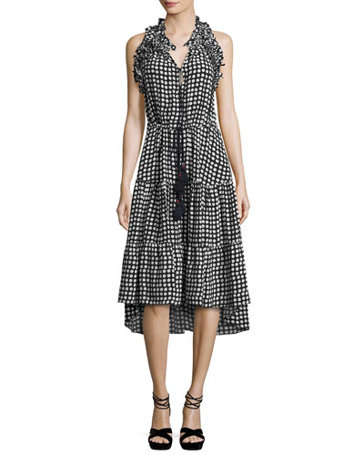 Gabriella Polka Dot Silk Dress