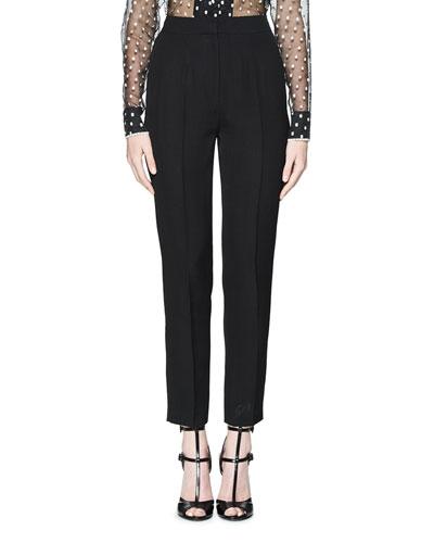 Tuigi Tailored Slim-Leg Pants, Black