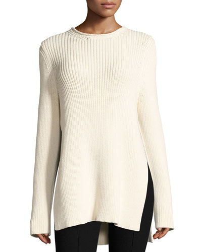 Selina Ribbed Crewneck Sweater