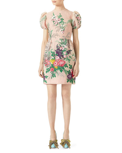 Floral-Embroidered Dress