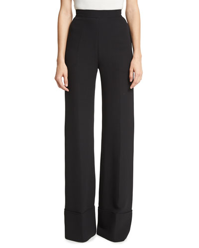 High-Waist Wide-Cuff Pants