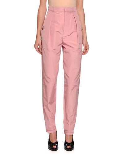 Gigi Faille High-Waist Pants