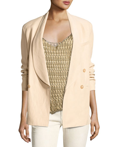 Nelson Shawl-Collar Jacket, Beige