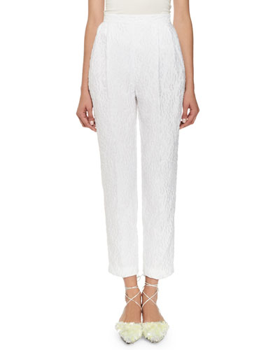 Cropped Matelasse Trousers