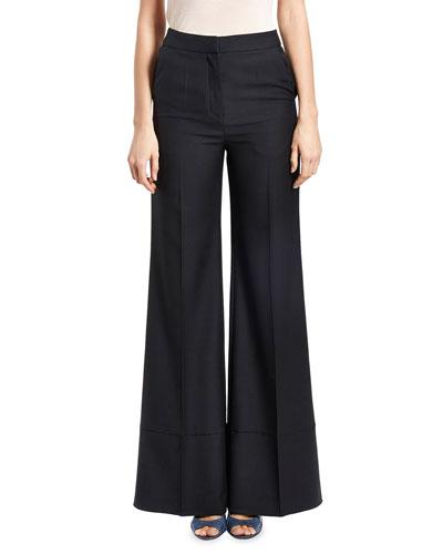 Birte Wide-Leg Trousers, Black