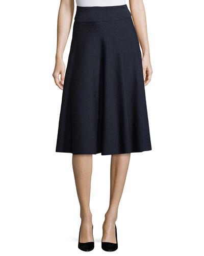 Alessia Wool A-Line Midi Skirt