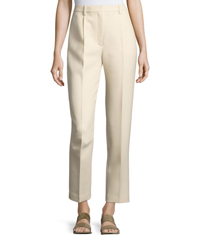 William Single-Pleat Straight-Leg Pants