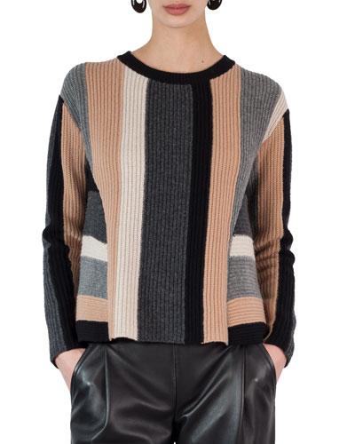 Geometric Colorblock Sweater