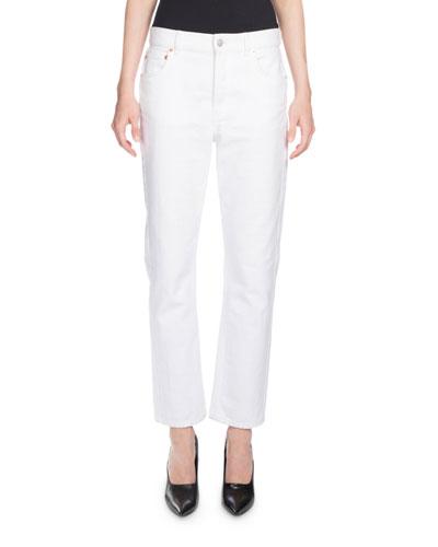 Classic Denim Jeans, White