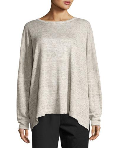 Melange Linen Knit Sweater