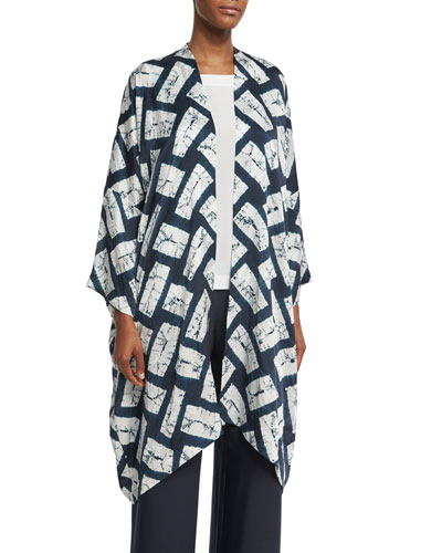 Rectangular Shibori Silk Jacket
