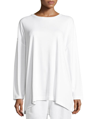 Long-Sleeve Pima Cotton T-Shirt