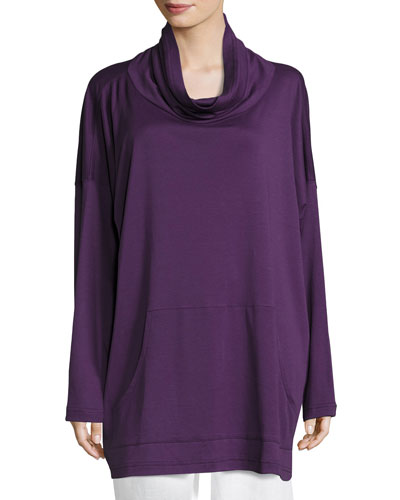 Pima Cotton Monks Top, Purple