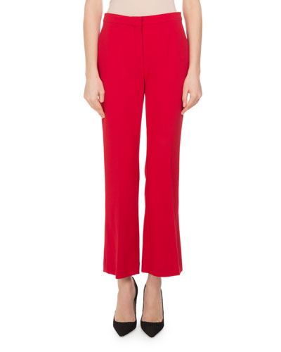 Nettle Cropped Flare-Leg Pants, Orange