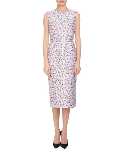 Tess Sleeveless Floral Sheath Dress, Multi