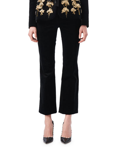 Serge Velvet Flat-Front Classic Pants