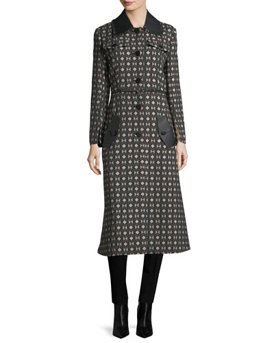 Geometric Jacquard Coat