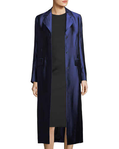 Muedi Long Jacquard Coat