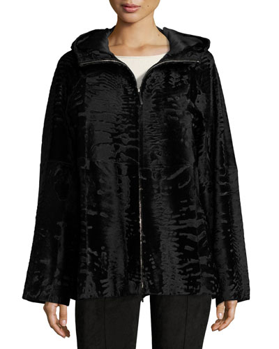 Lennai Fur Jacket, Black