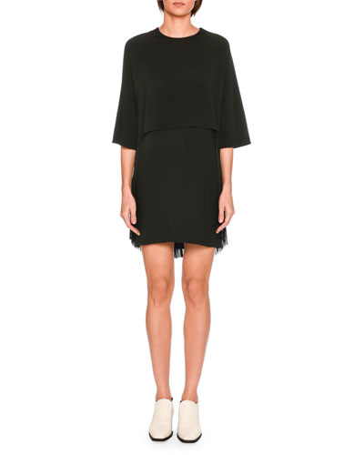 Georgia Tromp l'Oeil Fringe Dress, Black