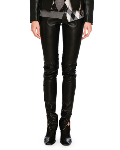 Darcelle Faux-Leather Trousers, Black