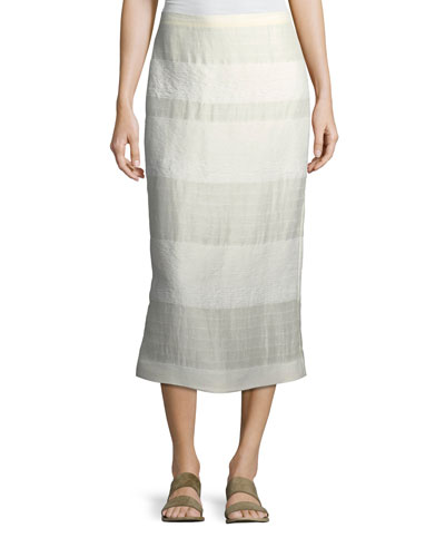 Odille Striped Linen Skirt