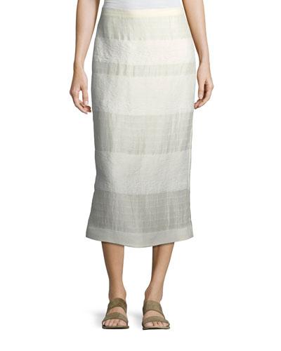 Odille Striped Linen Skirt