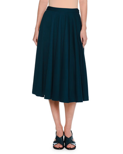 Atomic Jersey Midi Skirt, Blue